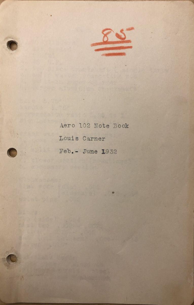 Aeronautics 102 notebook