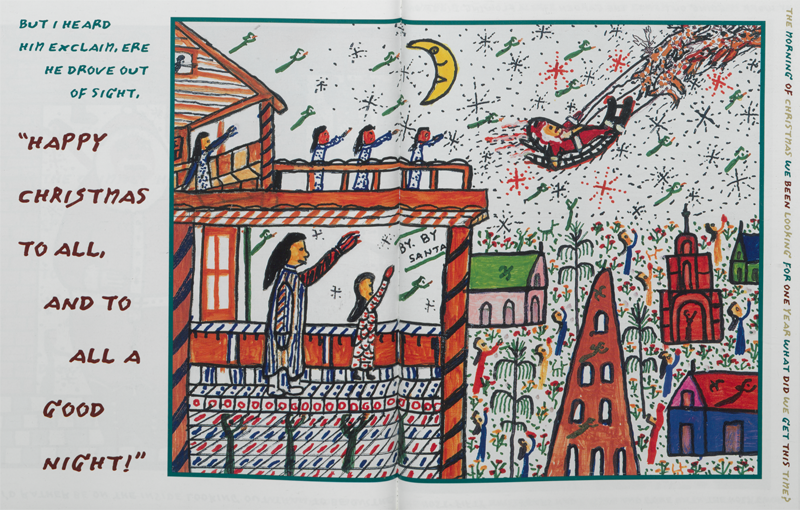 The Night Before Christmas, illustrated by Howard Finster