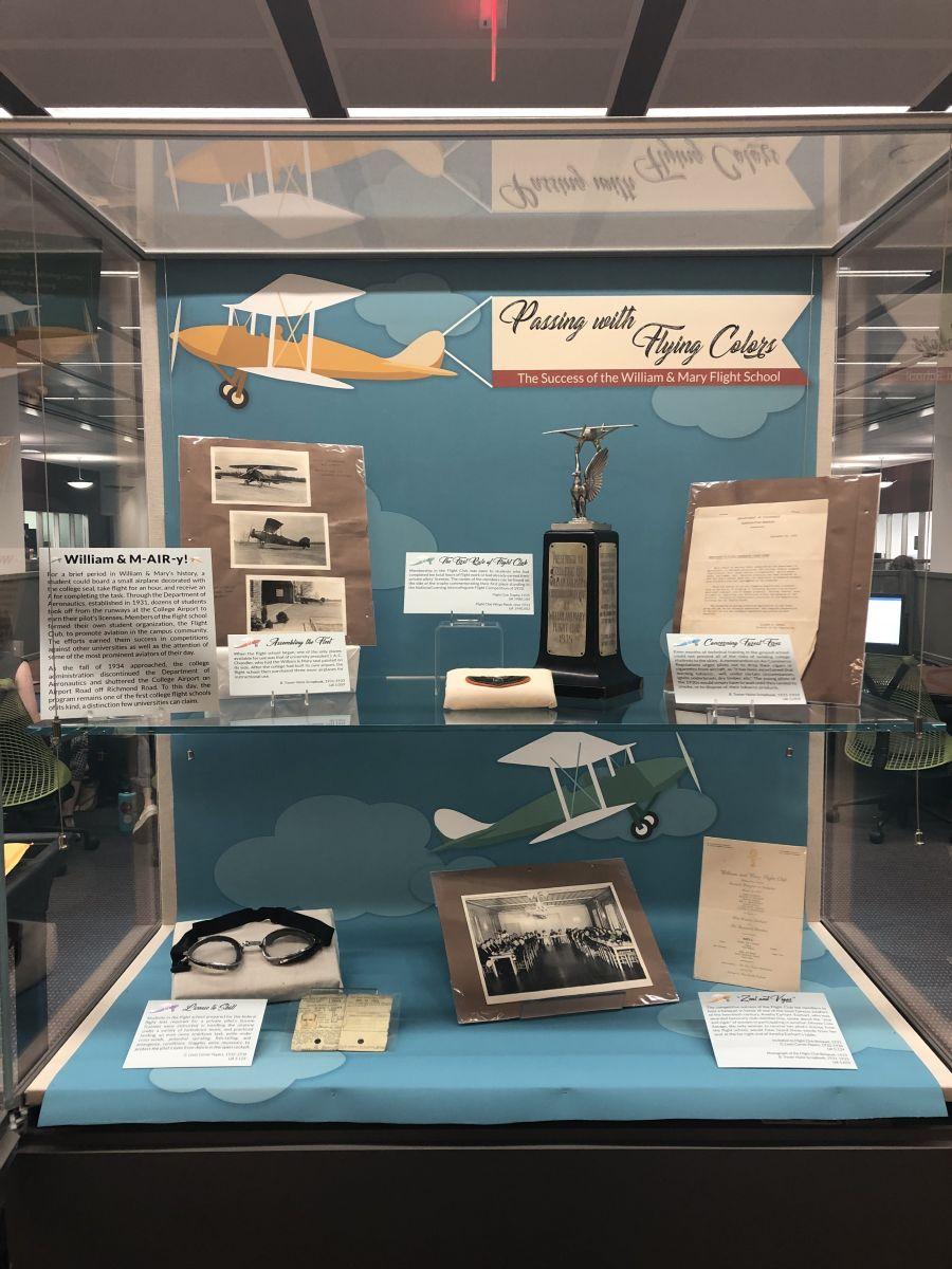 Flight School exhibit