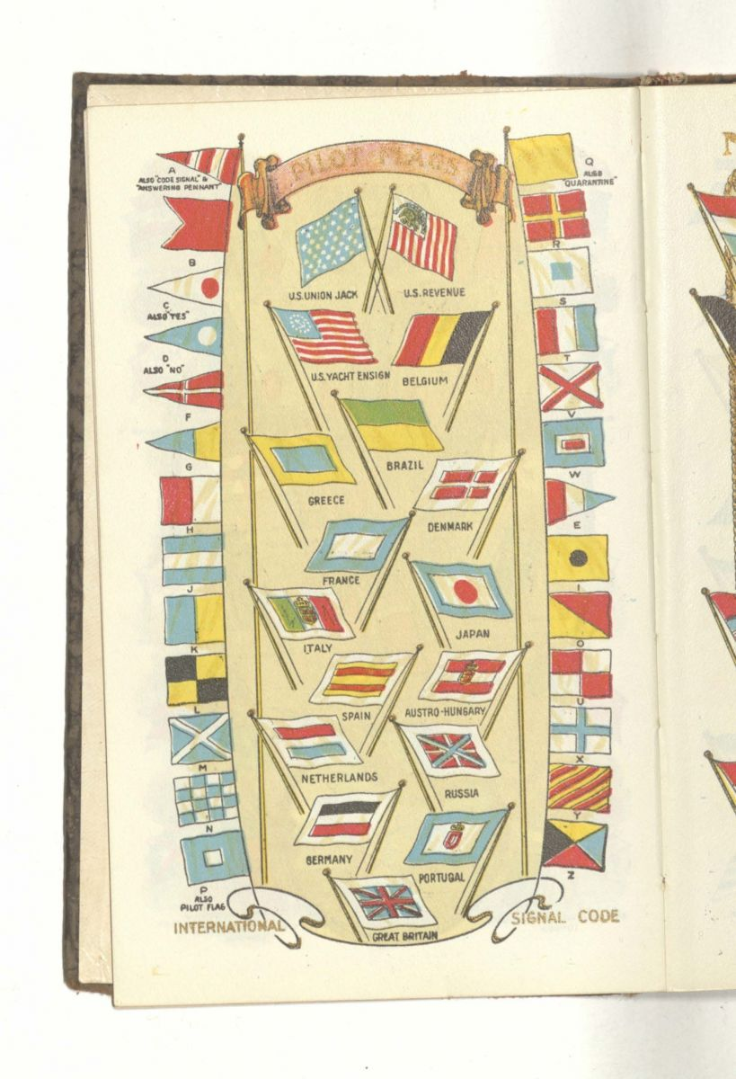 Page of flags in Edith's diary