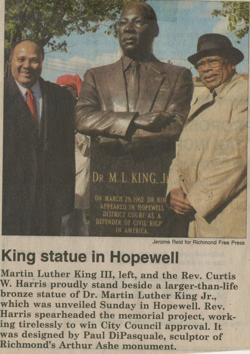 King Statue in Hopewell