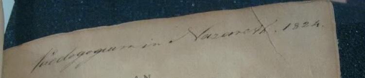 """""""Paedagogium in Nazareth, 1824"""""""