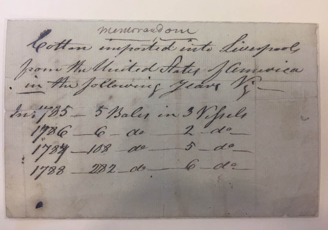 Memorandum, Maury Family Papers