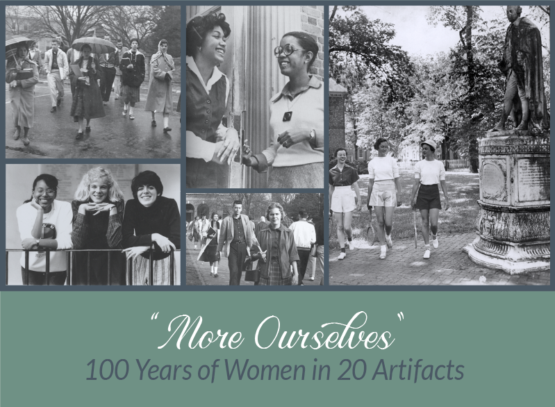 More Ourselves: 100 Years of Women in 20 artifacts. Photo collage