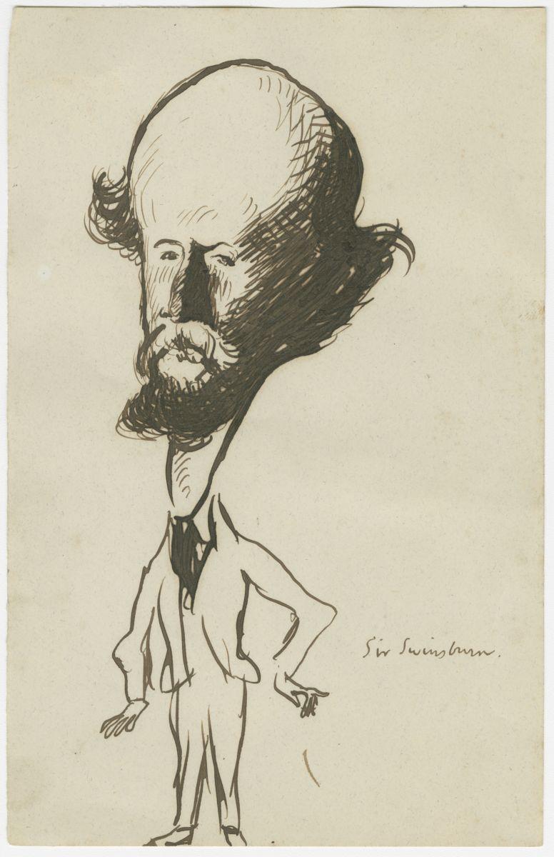 Caricature of Swinburne