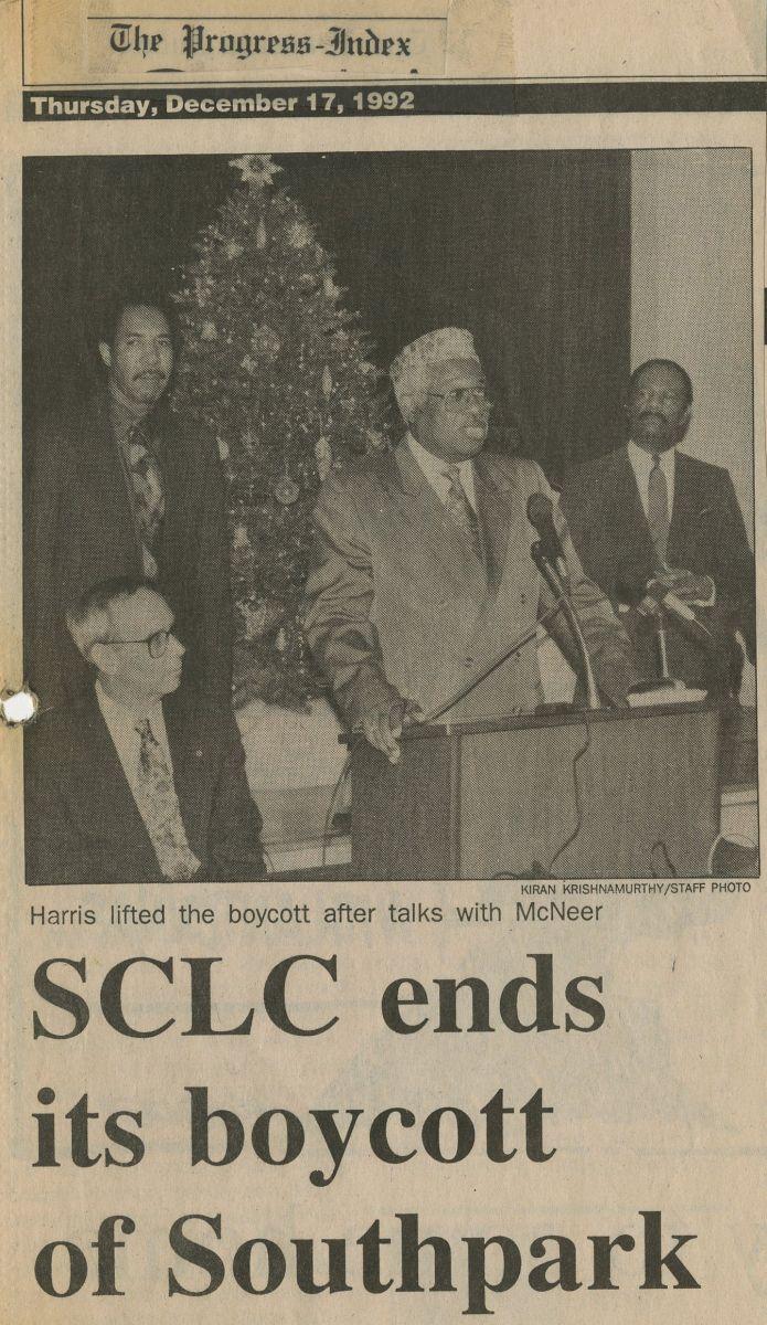 SCLC Ends its Boycott