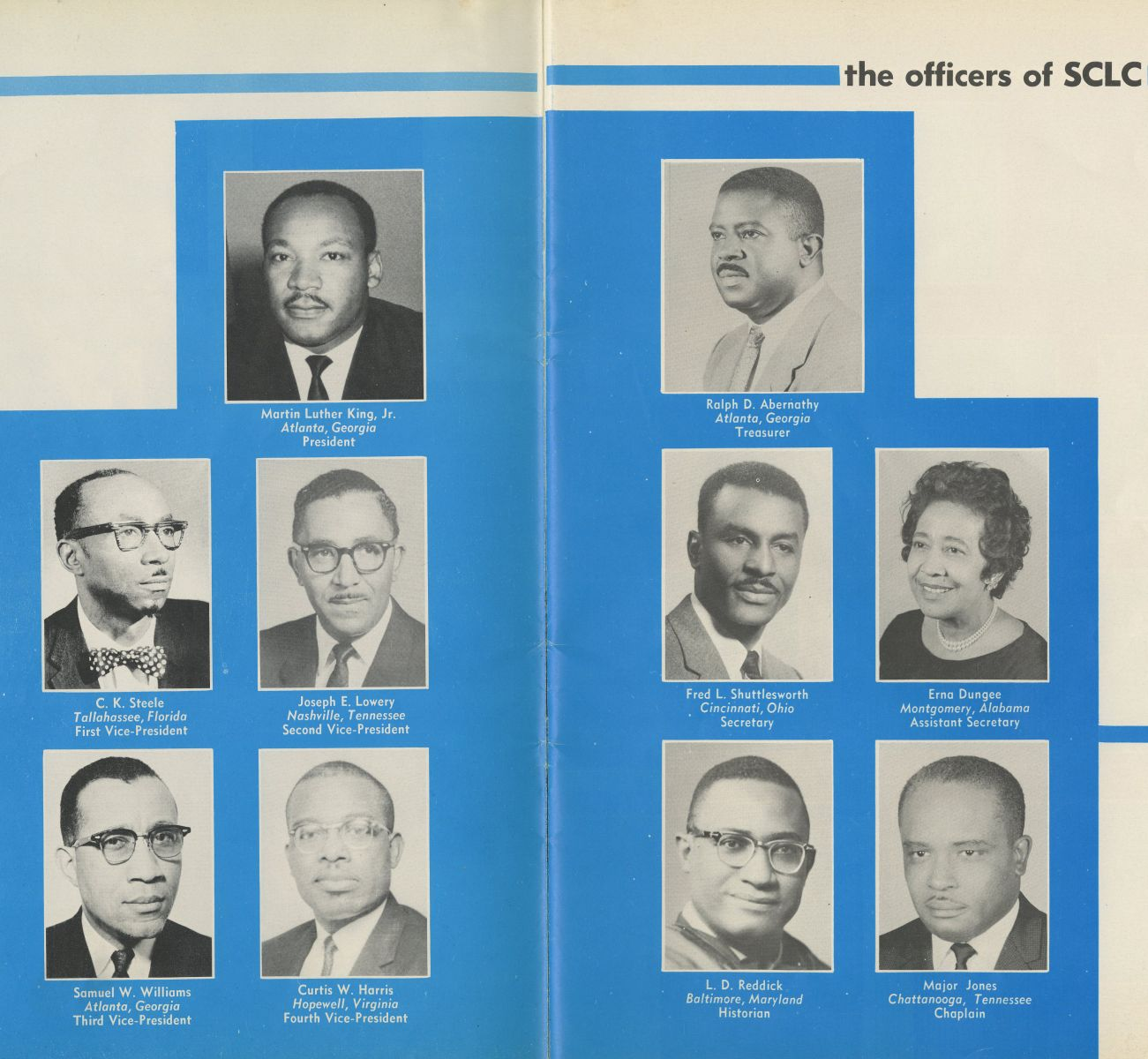 Officers of the SCLC