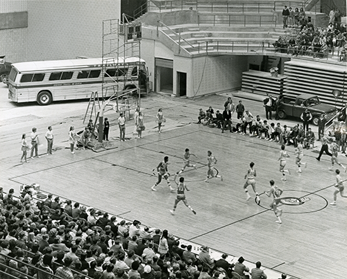 Basketball Game in Kaplan Arena, circa 1970s