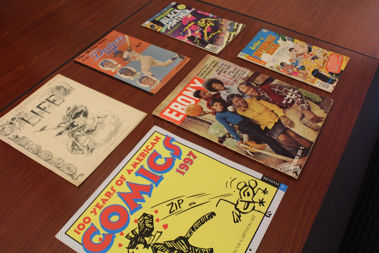 group of comic books