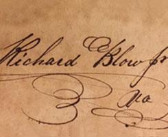 Signature of Richard Blow.