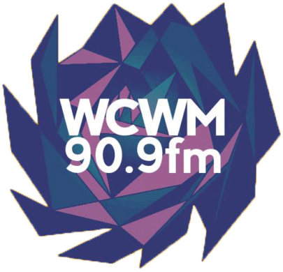 WCWM logo with blue and purple lotus flower