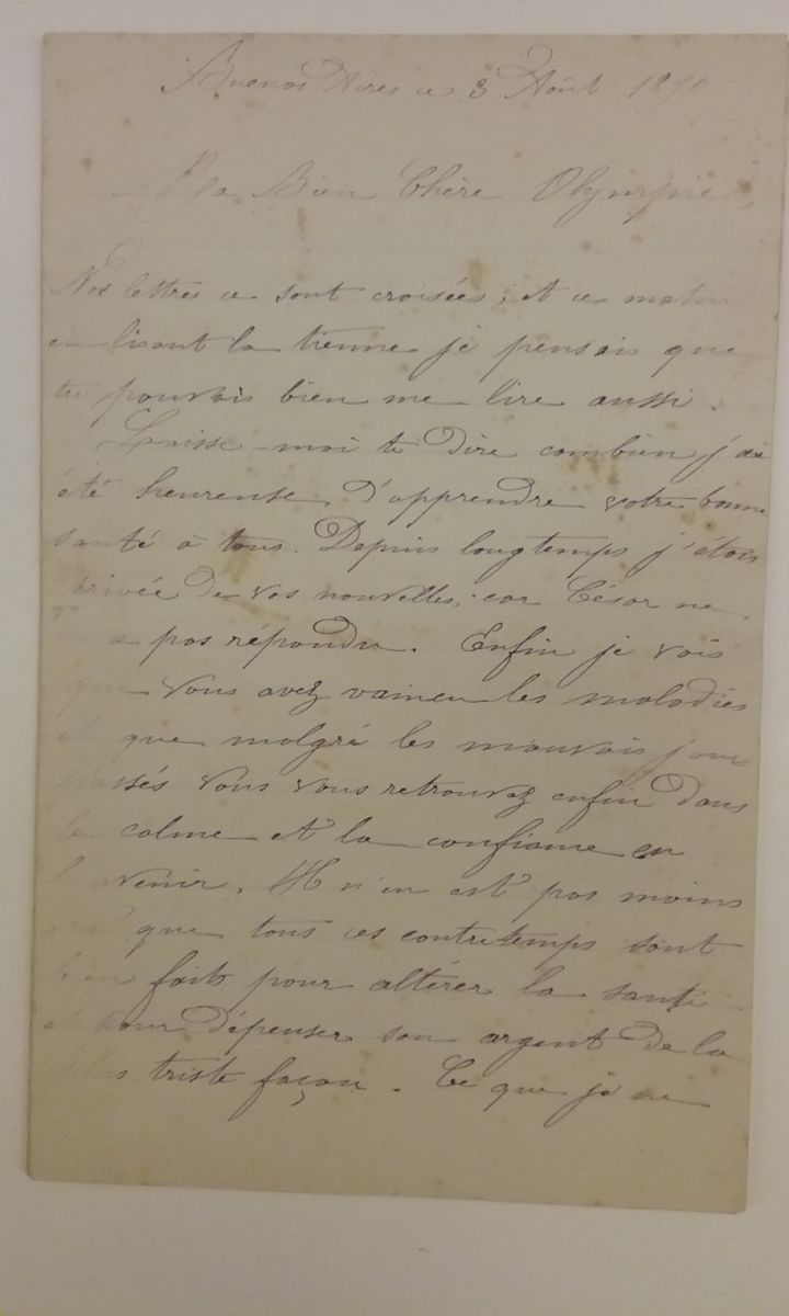 The opening of the letter