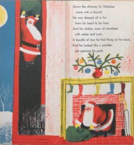 "Roger Duvoisin's illustration for ""'Twas the Night before Christmas"""