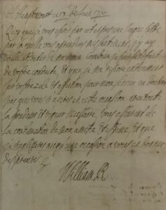 William's first language was Dutch, and his second French, so when communicating with his English and Scottish advisors he generally wrote and spoke in French.