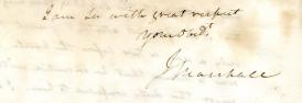 John Marshall signature. (John Marshall to John Lawrence, 21 February 1834 (2017.014 / SC 00134))
