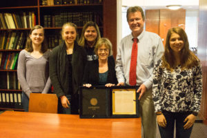 Dr. Lu Ann Homza, students, and SCRC director Gerald