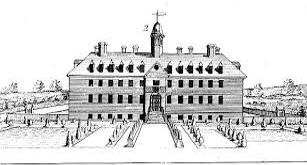 Illustration of the original Wren building