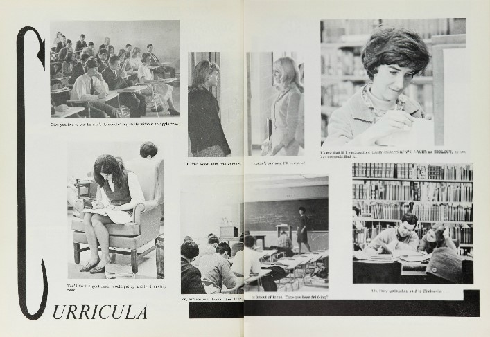 Curricula page of The Advocate yearbook