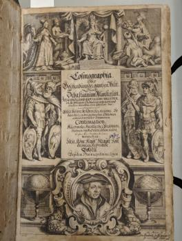 Engraved decorative title page by M. Merian