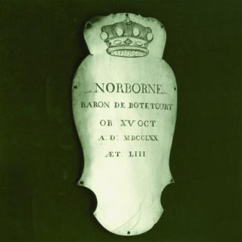 Lord Botetourt's Coffin Plate