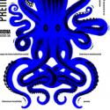 Poster art with illustrated octopus for Premio Casa