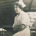 Image of nurse from Photo Album of Clara Lawrence