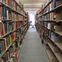 Library stacks in Swem Library