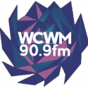 WCWM logo of lotus in blue and purple.