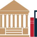 Illustration of books and university