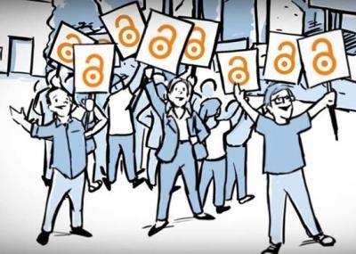 Illustration celebrating open access