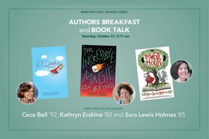 Authors Breakfast and Book Talk poster