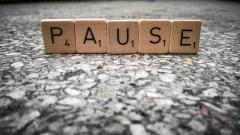 word tiles spelling pause
