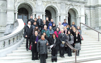 William & Mary faculty and librarians on the steps of the Library of Congress